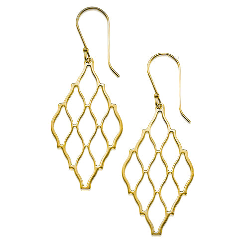 My Only One - Hive 18K Gold Plated Sterling Silver Earrings