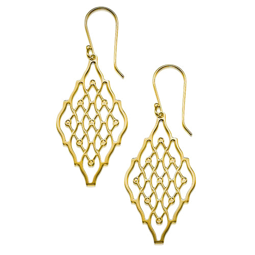 My Only One  Double Hive 18K Gold Plated Sterling Silver Earrings