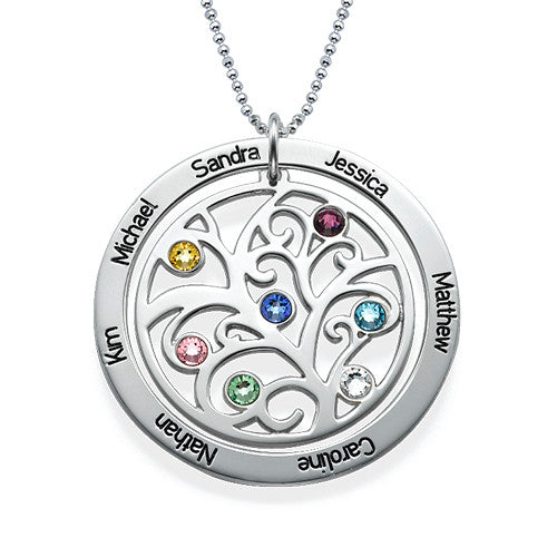 Family Tree Birthstone Necklace