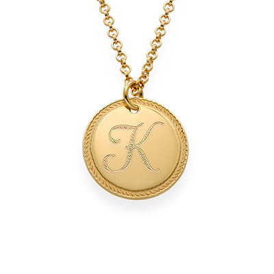 Circle Initial Necklace in GP