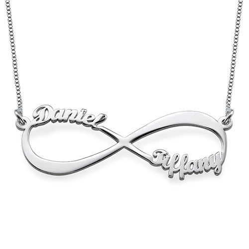 0.925 Silver Infinity Name Necklace