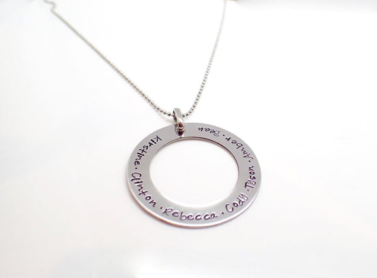 Silver Circle Washer Necklace
