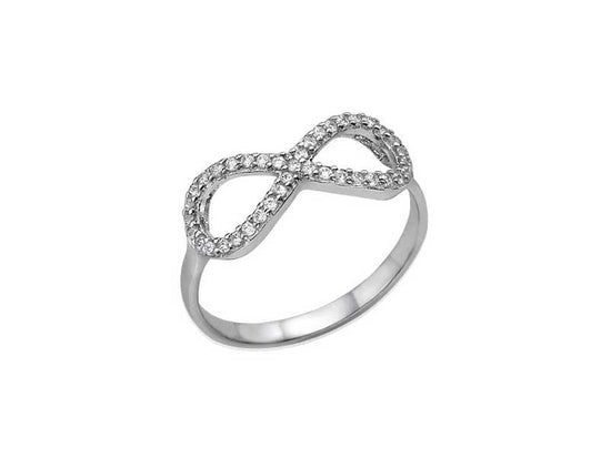0.925 Silver Infinity Cubic Zirconia Ring