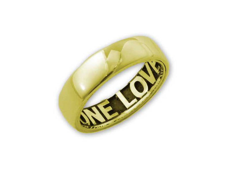 14k Gold Comfort Fit Inside Engraved English Purity Ring