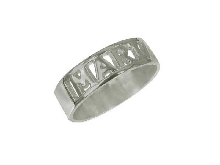 Engraved Name Ring - Silver