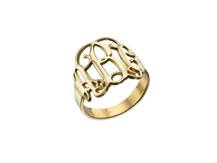 Monogram Ring - 18k Gold Plated