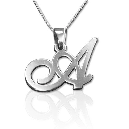 0.925 Silver Initials Pendant - Any Letter
