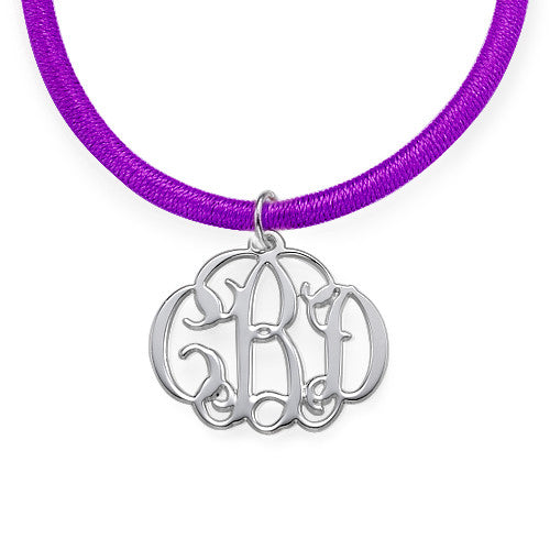 0.925 Silver Tiny Monogram Necklace