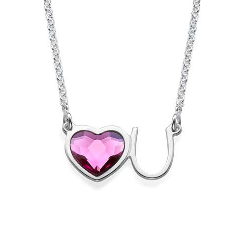 Sterling Silver Love U Necklace