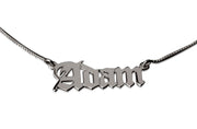 Sterling Silver Old English Name Necklace