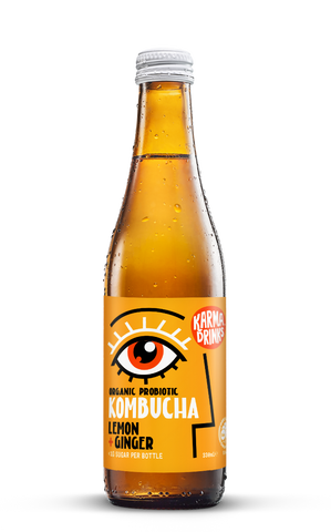 Karma Drinks Kombucha Lemon Ginger