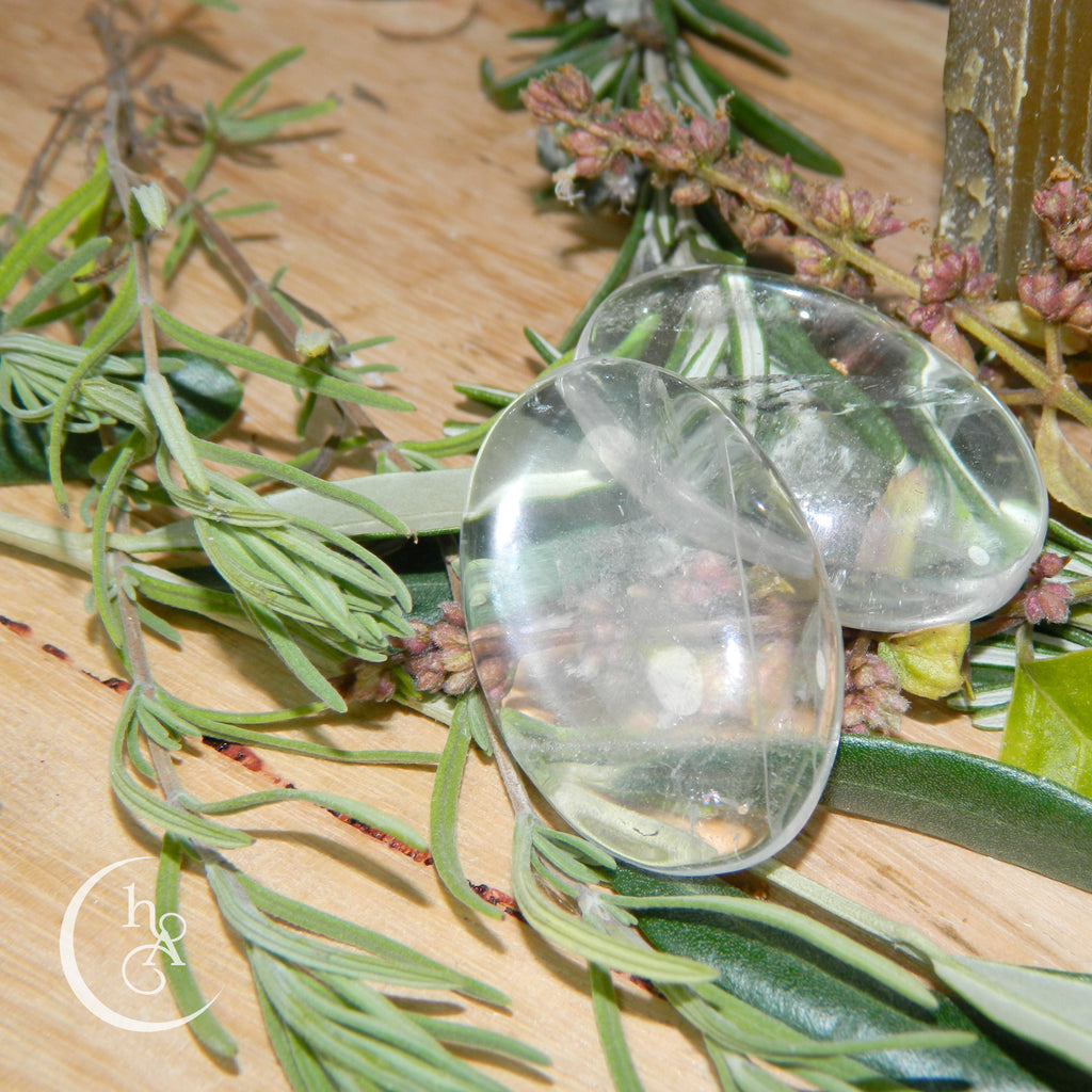 Clear Quartz Palmstone - Small