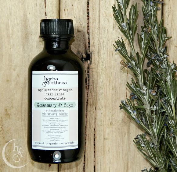 Rosemary and Sage Hair Rinse Concentrate 100-200ml