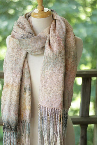 RS cotton Scarf - Alpaca silk weft