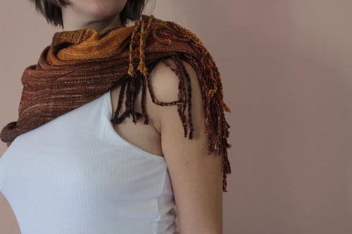 Everyday Embers fringed cowl