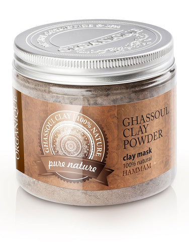 clay powder face mask in jar