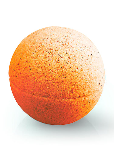 Organique nourishing natural Bath Bomb Orange & Chilli 170g potato starch