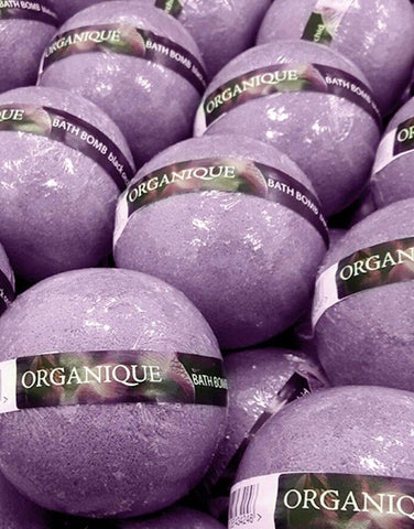 Organique Nourishing Bath Bomb Black Orchid 170g natural ingredients