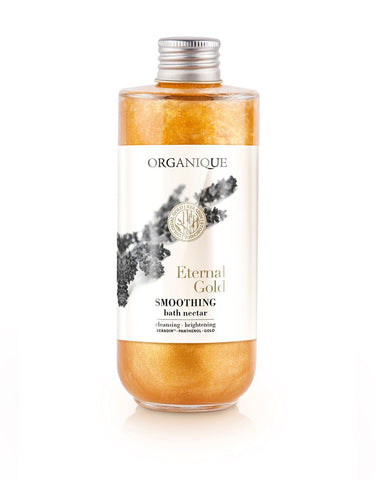 Golden Rejuvenating And Relaxing Bath Foam Nectar 200ml bottle from Organique cosmetics inspired by nature