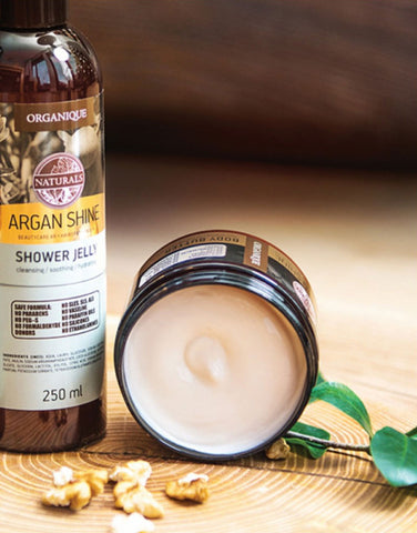 Nourishing Argan Shine Shower Gel For Dry Skin Organique natural boby care