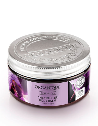 Organique Nourishing Black Orchid Shea Butter Body Balm 100ml natural cosmetics