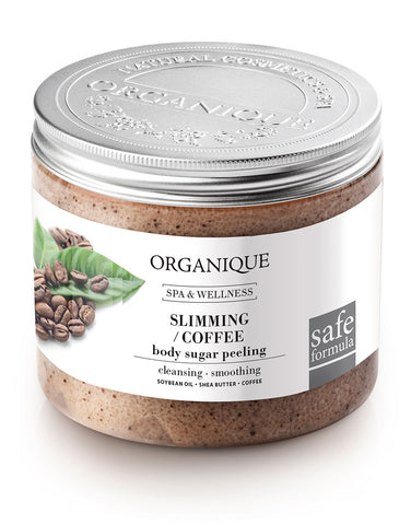 Organique Slimming Coffee Sugar Body Peeling 200ml box of natural product (228461183004)