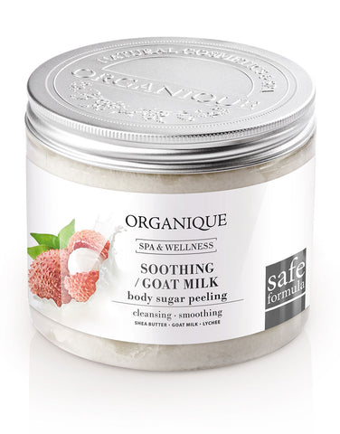 Organique Soothing Goat Milk & Lychee Body Sugar Peeling 200ml box