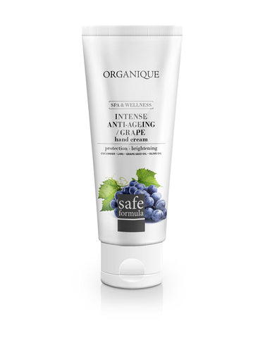 Intense Anti Ageing Hand Cream With Grapes 70ml tube from Organique cosmetics