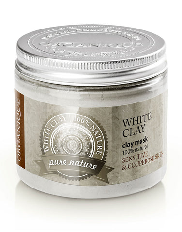 White Clay Face And Body Mask Powder For Dry And Sensitive Skin 200ml Organique natural cosmetics