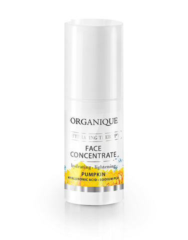 Intense Hydrating Face Concentrate 20ml bottle with feeder Organique cosmetics