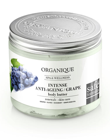 Intense Anti Ageing Body Butter with Grapes 200ml package Organique cosmetics