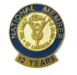 10 Year Membership Pin
