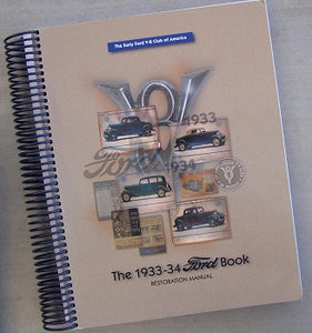 1933-1934 Ford Book, softbound