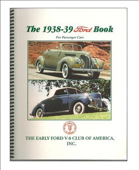 1938 - 1939 Ford Book, Softbound