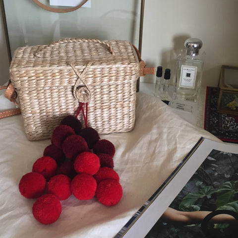 D' Box pompom straw bag - We11made