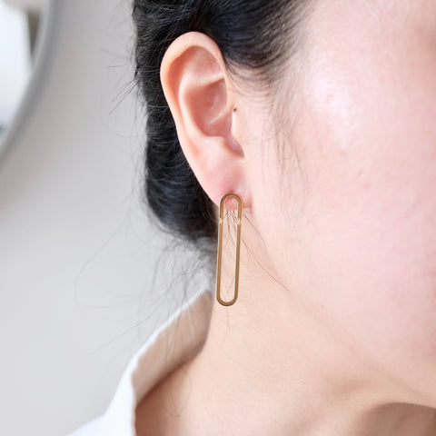 Connected Bar Earrings - We11made