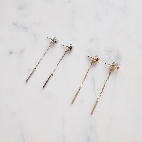 Stud Bar Drop Earrings - We11made