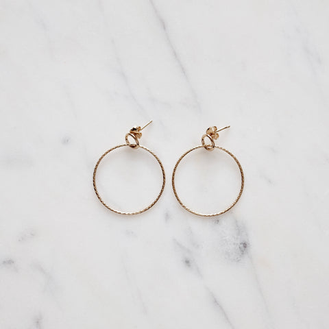 Double Circle Hoop Earrings - We11made