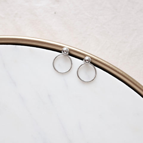 Sphere Stud Back Hoop Earrings - We11made