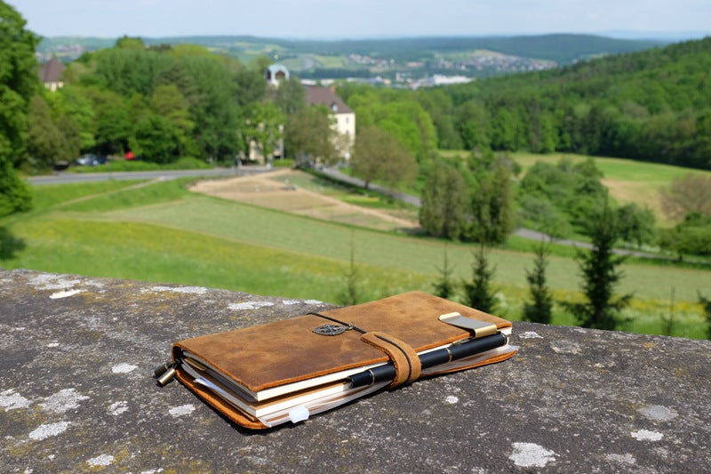 Genuine leather traveller's diary (A5)