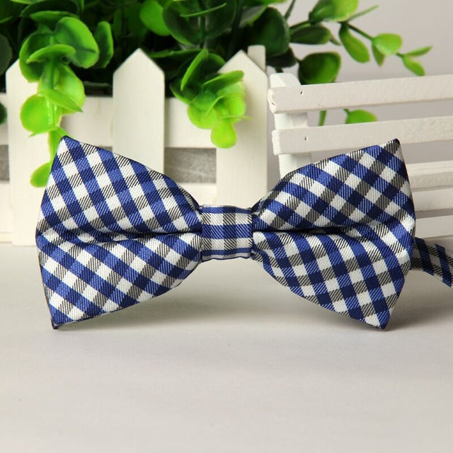 Men's Casual Cotton Bow Tie Plaid