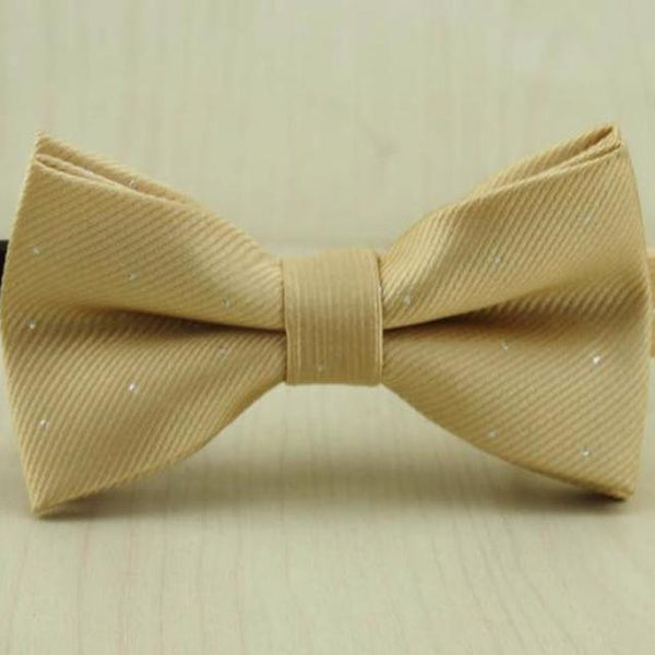 Champagne Dot Bow Tie for Boys