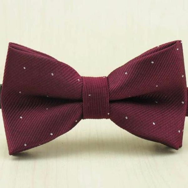 Wine Red Dot Bow Ties for Boys