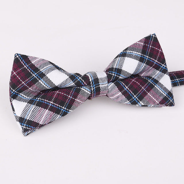 Plaid Printed Boy's Bowties