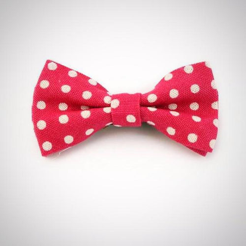 Polka Dot Red Boy's Bow Tie