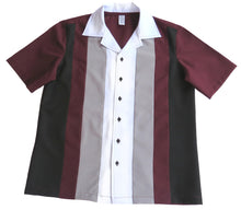 Men's Rock and Roll Shirt -  Maroon Back, Front 4 colour Panels (colour range available)