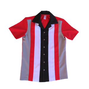 Men's Rock and Roll Shirt -  Red Back, Front 4 colour Panels (colour range available)