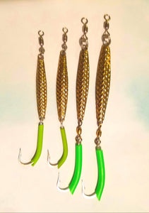 Diamond jig, hammered gold, extra small