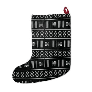 African American Black Mudcloth Inspired Christmas Stockings