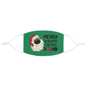 Merry Quarantine Christmas Black Santa Fabric Face Mask